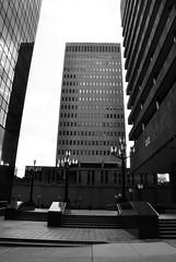 Baltimore 3 (Elizabeth Almlie) Tags: baltimore maryland architecture buildings modernism plaza lightpost federalbuilding sunlifebuilding