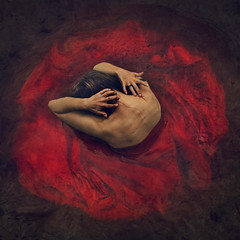 creating despite (brookeshaden) Tags: brookeshaden fineartphotography conceptualphotography selfportrait bleeding painterlyphotography skinandbones