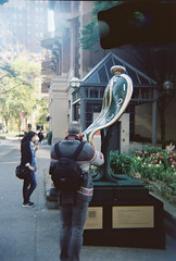 2017-05-26 07.43.55-1 (joannewhiteart) Tags: holga120s holga film kodakportra portra dali sculpture downtownvancouver vancouver iloveholgas ishootfilm naturallight filmphotography