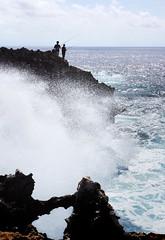 Water Blow in NusaDua (MelindaChan ^..^) Tags: cliff chanmelmel mel melinda melindachan wave ocean fishing life people lava bali indonesia 印尼 巴里島