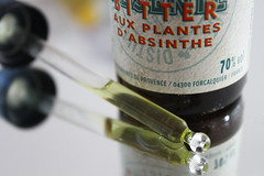Poisonous: Thuyone  [Explored] (franck.robinet) Tags: mm hmm macromondays poisonous absinthe thuyone macro reflection