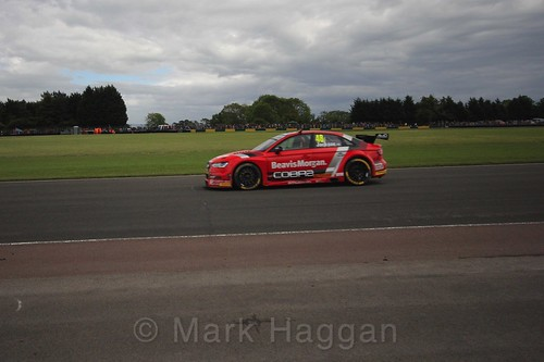 Ollie Jackson in BTCC action at Croft, June 2017