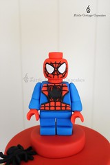 Lego Spiderman Cake Topper (Little Cottage Cupcakes) Tags: littlecottagecupcakes birthday cake spiderman lego caketopper boy legocake spidermancake sugarpaste fondant sugarart