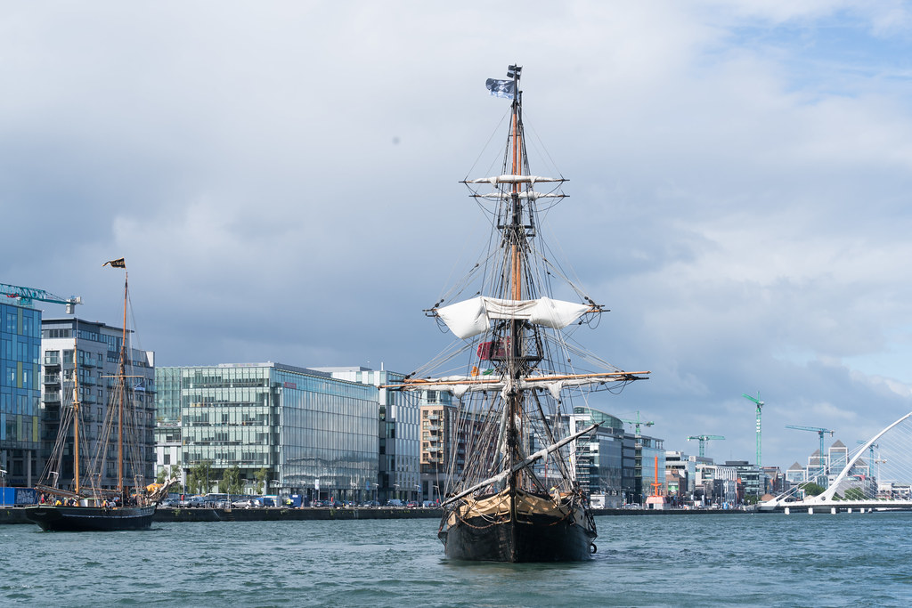 THE PHOENIX LEAVES DUBLIN PORT [DUE TO VISIT DROGHEDA LATER IN THE WEEK]-129429