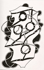 (Abstracted Distractions) Tags: penandink abstract abstractart drawing blackandwhite psychedelic psychedelicart swirls circles outsiderart drawings pen ink inkdrawing inked tangle zentangle doodle doodles folkart