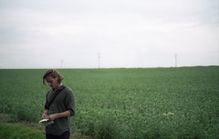 Jonny (fraser_west) Tags: film analogue 35mm cinestill 50d canon eos3 portrait people outdoors field countryside clouds bts filming musicvideo cinestillfilm 2017