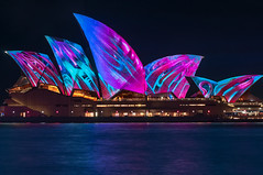Imaginative new projections on the Opera house (danielacon15) Tags: 2017 architecture australia australian building city cityscape colorful contemporary harbour light lights modern night operahouse sydney travel urban art artistic beams bright celebration color designs entertainment evening festival icon illuminated illumination landmark longexposure nightlife projections reflections structures tourism vacation view vivid water waterfront