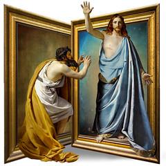 The doubt of São Tomé (jaci XIII) Tags: apóstolo pintura evangelho cristianismo christ apostle painting gospel christianity cristo thomas doubt