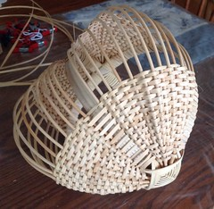 Egg Basket Process (Nutmegbasketry) Tags: eggbasket ribbasket basket baskets basketmaker handwoven newenglandmade ctmade ctmakers basketmaking basketweaving