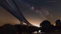 Voie lactée Bretonne. (f.ray35) Tags: rouge milky way sky stars brittany bretagne illeetvilaine bridge ouest voie lactée