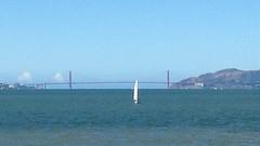 Golden Gate Sailboat (Melinda * Young) Tags: goldengate bridge bay sanfrancisco marinheadlands sailboat sail clearday bluesky water sailing sunday recreation berkeley view waterfront west pacific