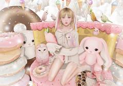 Usagi (Gabriella Marshdevil ~ BUSY IRL) Tags: sl secondlife hazy cute arcade halfdeer kawaii moremore catwa bento mesh sweet bunny