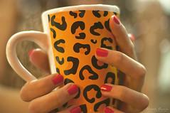 A little break (Yamila Barcia) Tags: animalprint coffee morning estampado pattern cafe desayuno breakfast woman sweet nail polish red warm