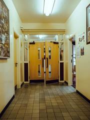 Swingin' Doors (efsb) Tags: doors school corridor lightroom