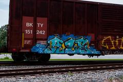 Boxcar Graffiti (Fred Watkins (kg4vln)) Tags: kg4vln nikon d3000 railroad railfans elbertadepot warnerrobins georgia