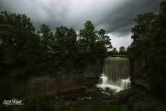 Trouble over the Horizon (wilbias) Tags: ontario canada landscape water nature river travel rain summer horizon long niagara waterfall falls gray storm exposure sound thunder outdoors indian hail county owen escarpment