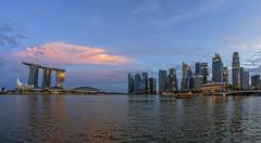 Sunset Glow @ Marina Bay, Singapore (gintks) Tags: gintaygintks gintks marinabaysands marinabayfinancialcentre esplanade thefloatmarinabay esplanadefloat yoursingapore exploresingapore marinabaysingapore singaporetourismboard