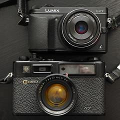 Panasonic Lumix GX7 and Yashica Electro 35GT (CorgiHouse) Tags: panasoniclumixgx7 yashicaelectro35gt