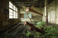 decay (blende einspunktacht) Tags: decay green backtonature abandoned verlasseneorte urbex lostplaces lamp fern farn canon tokina
