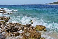 waves on the sea :) (green_lover) Tags: sea waves croatia water landscape rocks splash blue vacation travels