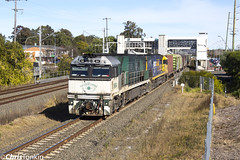 6PS7 NR84-NR117 Leumeah 10-7-17 (ctonkin85) Tags: nr84 nr117 pacificnational southernsydneyfreightlinessfl ssfl southernspirit leumeah ps7 6ps7 containertrain superfreighter nrclass