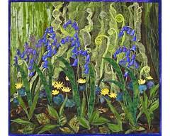 Tangy Wood Bluebells (Carolynn McMillan) Tags: fibreart artquilt handpainted tyvek handdyed quilt tangywoodbluebells