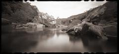 Cheat River Narrows (DRCPhoto) Tags: zeroimage612b pinhole lenslessphotography kodakbw400cn film westvirginia cheatriver