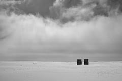 The Wall (Rene'D.) Tags: 2017 amrum schleswigholstein germany bw bnw monochrome monochrom schwarzweiss schwarzweis kniepsand beach sand sands coast shore shoreline cloud clouds chair strandkorb
