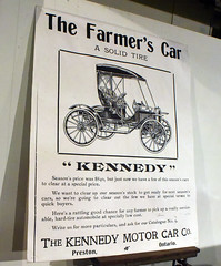 Kennedy car advertisement (D70) Tags: produced preston ontario canada 2cylinder 18 horsepower price 750 only surviving kennedy car 75 were built 1909 100 1910 model highwheeler canadian automotive museum central oshawa youtubec17tai00we4 motor co farmers nikon d750 200mm f28