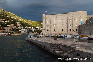 Stormy skies behind St John's Fortress