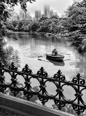 Central Park (marianna_a.) Tags: centralpark newyork urban park rowboat rowing couple pleasure fun outdoor fence wroughtiron mariannaarmata p1360067 black white