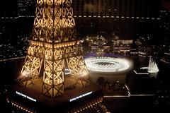getting an eiffel of the fountain (n.a.) Tags: eiffel tower paris bellagio las vegas nevada usa night light show fountain restaurant hotel casino resort