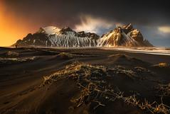 Vesturhorn (Mark McLeod 80) Tags: 2016 hofn iceland markmcleod markmcleodphotography stokksness vesturhorn beach mountain snow sand