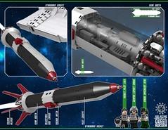 Queen Aurora 32 (messerneogeo) Tags: messerneogeo robot mech mecha queen aurora spaceship battleship ninja ganzo lego