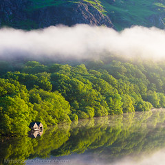 The Boathouse (Michael Sowerby Photography) Tags: beddgelert cloud cloudinversion dawn lake llyndinas mist morning mountains northwales snowdonia sunrise temperatureinversion tranquil wales water colour countryside outdoors sky trees inversion canon 5dsr 70200mm