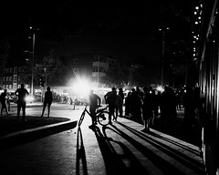 G20 in Hamburg (4) - July, 2017 (Konrad Lembcke) Tags: g20 hamburg germany black white police polizei summit protest demonstration sternschanze schanzenviertel schulterblatt low light night street photography