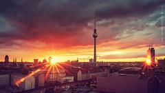 =] end up fire №3 [= (oolcgoo) Tags: sony slt alpha amount apsc a77mii architecture architektur berlin skyline sundown sunset sonnenuntergang clouds wolken