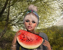 Feeling melon fresh (CeCeGy) Tags: second life catwa tram deetalez theskinnery skinnery emery ikon white widow maitreya swallow meva real evil poppycock melon tala uber collabor88