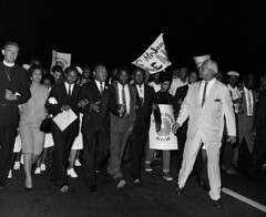 King leads march to White House: 1965 (washington_area_spark) Tags: washington usa dc district columbia rev dr martin luther king jr white house lafayette park march rally demonstration voting rights civil hoe rule 1965 african american black