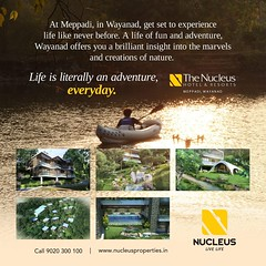 The Nucleus Hotel & Resorts is located at Rippon, Meppadi, Wayanad. A premium luxury 4 star resort that sits on 2.45 acres of land has a built-up area of 56,000 sq.ft. Our rooms built for the lucky few, speak of luxury and comfort, cradled in the midst of (nucleusproperties) Tags: beautiful river life luxuryhotel livelife forest elegant style kerala wayanad resort lake lifestyle india luxury comfort nature hillstation architecture hotel gorgeous design elegance environment trekking beauty exquisite view city atmosphere