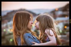 sisters (Angelo Petrozza) Tags: sisters sorelle hairs capelli bokeh luci light pentaxk70 google nikcollection analogefexpro angelopetrozza 55300f458