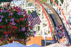 Happy 4th of July! (Explored) (kwtracyghostship) Tags: pennsylvania commonwealthpa westernpa kennywood2017 alleghenycounty celebrateamerica kwtracyghostship westmifflin unitedstates us americanna thunderbolt amusementpark fun festive july4th americanflag usa sarsstripes starsstripes redwhiteblue rollercoaster