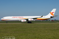 PZ-TCR Surinam Airways Airbus A340-313  (AMS - EHAM) (Sierra Aviation Photography) Tags: eham amsterdam netherlands ams polderbaan boeing embraer airbus planespotting spotting spotter aviation luftfahrt airline airlines airways airport runway landing departure arrival jet sierraaviationphotography sierraaviation canon 5d 5dmk2 engine taxiway terminal apron flugzeug