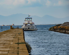 Marsala workboat (Alida's Photos) Tags: marsala sicily workboat europe mountains dock italy