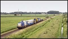 "20170708 VolkerRail 203-2 ""Jerry"" + Verblijfswagen + Kraan, Zwammerdam (56166) (Koen Brouwer) Tags: volkerrail 2032 zug trein train zwammerdam alphenaandenrijn alphen bodegraven locomotief loc werkzaamheden werktrein kraan bewolkt juli 2017"