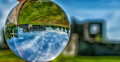 Carew Castle: A different perspective (samanthalewisphotography) Tags: castle carew crystalball surreal history wales welshcastle pembrokeshire visitpembrokeshire upsidedown perspective
