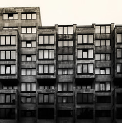 Bye Bye My Days by Simon & His Camera (Simon & His Camera) Tags: building window squares lines architecture blackandwhite monochrome city urban bw contrast dark glass london outdoor pattern square simonandhiscamera skyline shade shadow