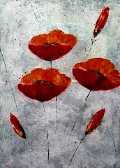 Mohnblüte I (Birgit.Riemann) Tags: acryl acrylbild acrylbilder art kunst paintings paint malerei birgitriemann mohnblüten mohnblüte rot grau galarie acrylic acrylart zeitgenössische modernart leinwand canvas gemälde pflanze blume zeichnung abstrakt 2017
