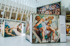 """A Certain Point of View"" (Photography by Sharon Farrell) Tags: michelangelo michelangelossistinechapel michelangelo'ssistinechapelfrescoes photosofphotographs replicas ceilingofthevatican ceilingofthesistinechapel oculus oculusattheworldtradecenter oculusnewyorkcity oculusnyc theoculus insidetheoculus newyork newyorknewyork worldtradecenter worldtradecentertransportationhub 1worldtradecenter oneworldtradecenter newworldtradecenter wtc"