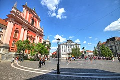 (biosynthesis24) Tags: european europe downtown stadtmitte ljubljana slovenia melanincountry river architecture summer 2017 beautiful majestic old church cathedral flags tourists fun adventure